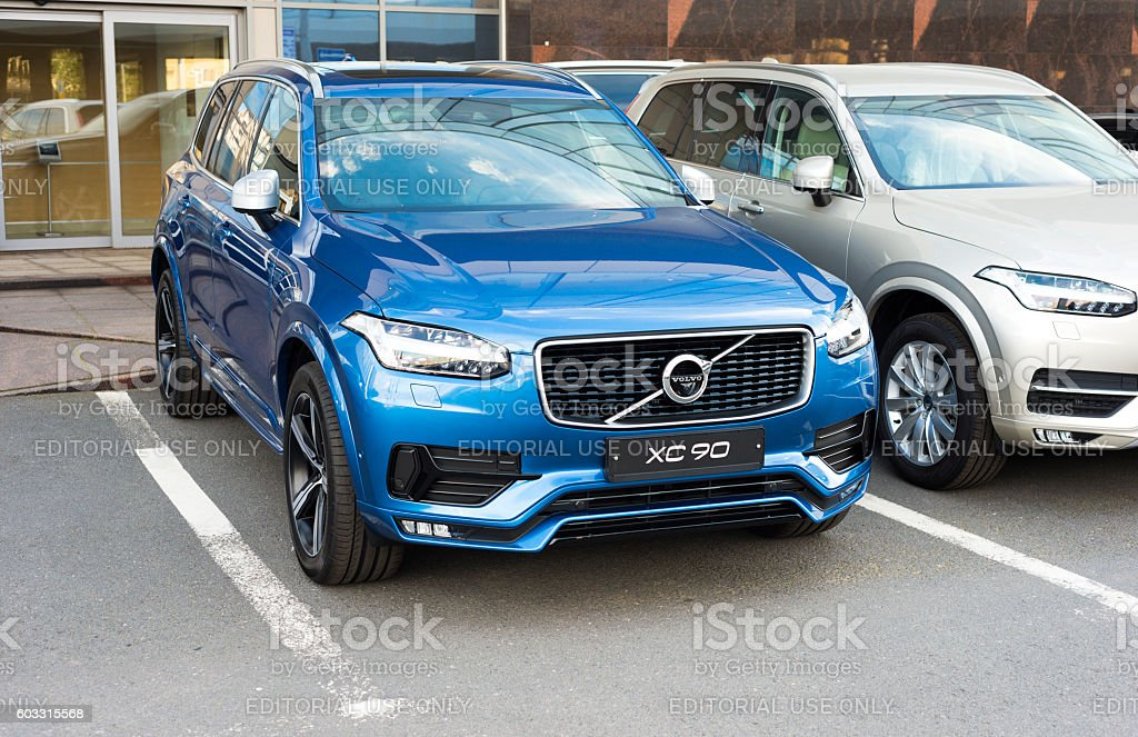 Bright new Volvo XC90 stock photo