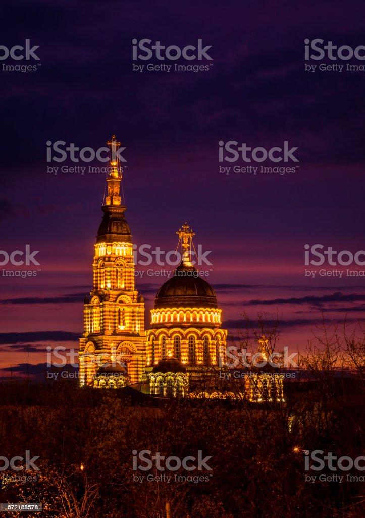 Bright night view stock photo