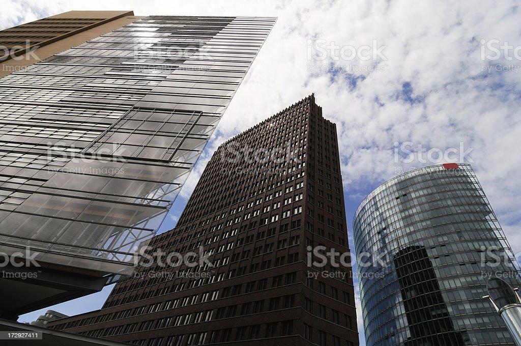 bright offices berlin, potsdamer paltz royalty-free stock photo