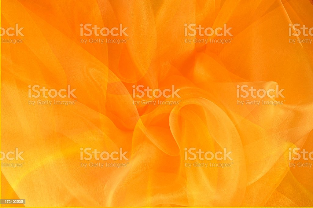 Bright Orange and Gold Swirls stock photo