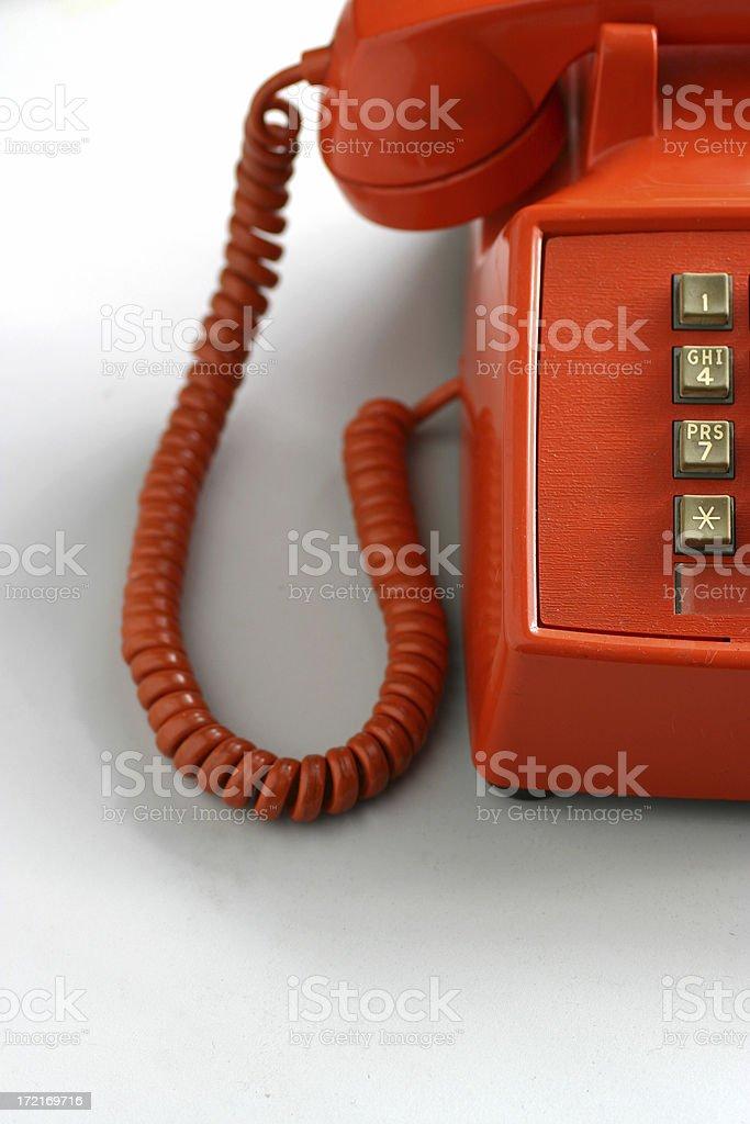 Bright Orange Phone royalty-free stock photo