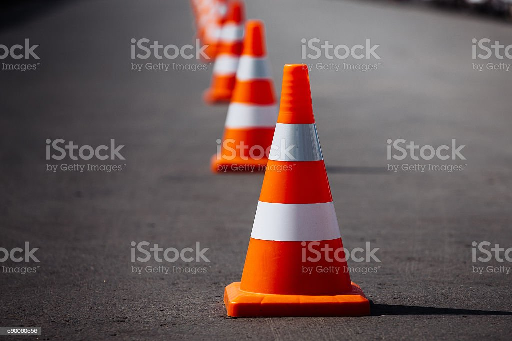 Top 60 Traffic Cone Stock Photos, Pictures, and Images ... Traffic Cone On Road