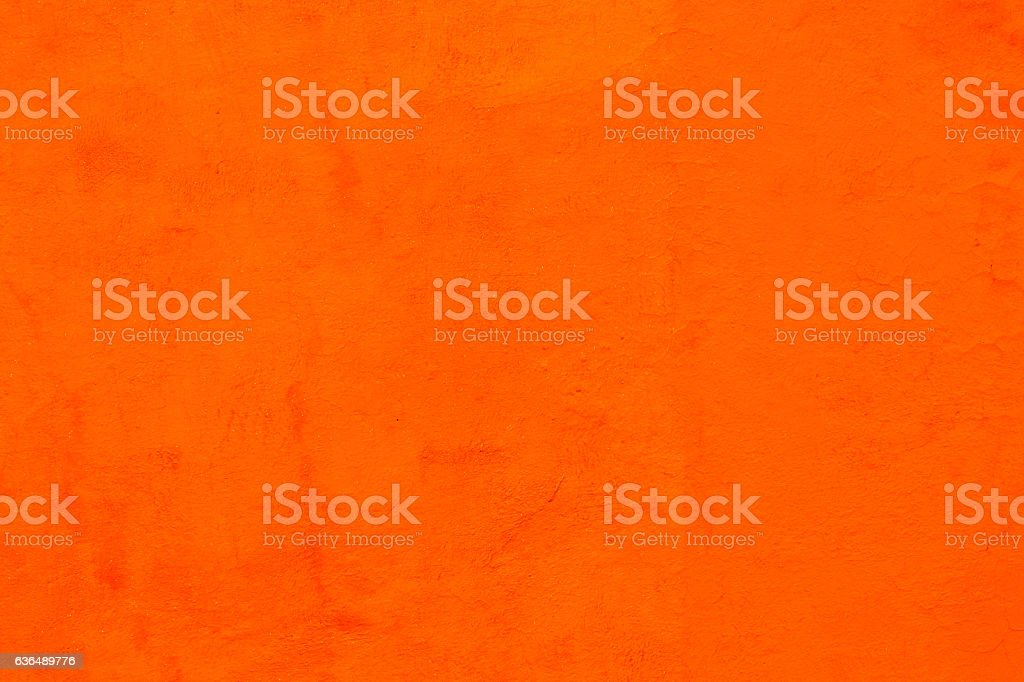 Bright Orange Wall San Miguel de Allende Mexico stock photo