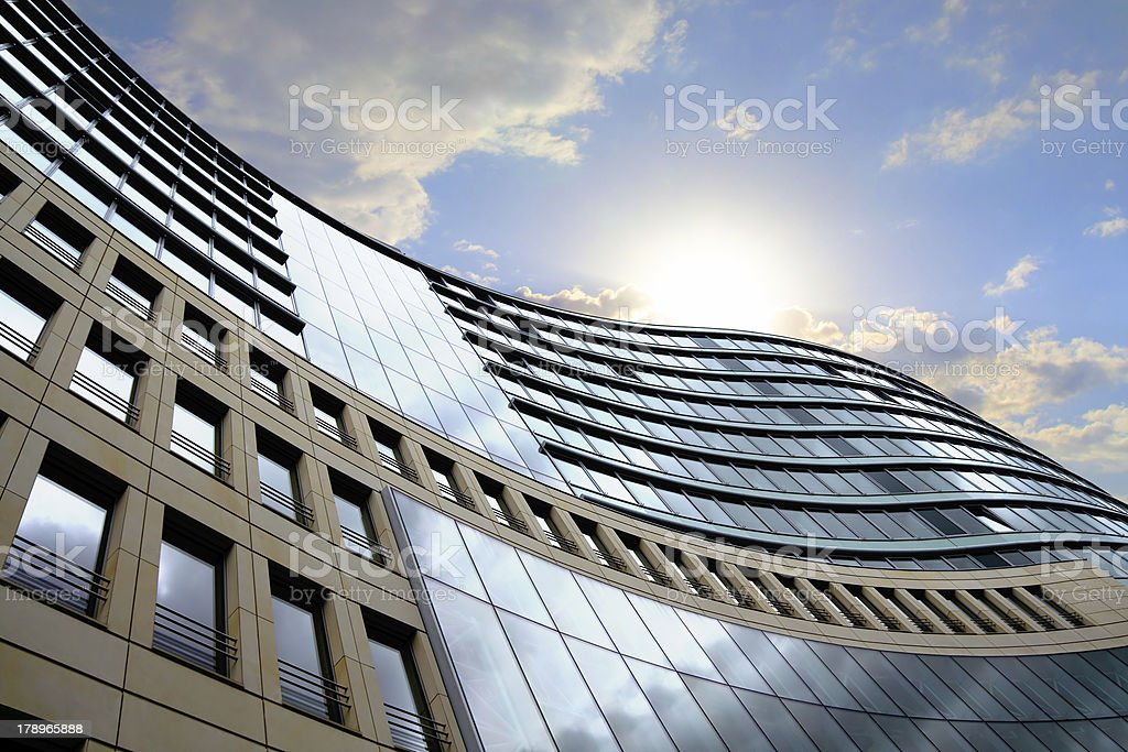 Bright outlook for business stock photo