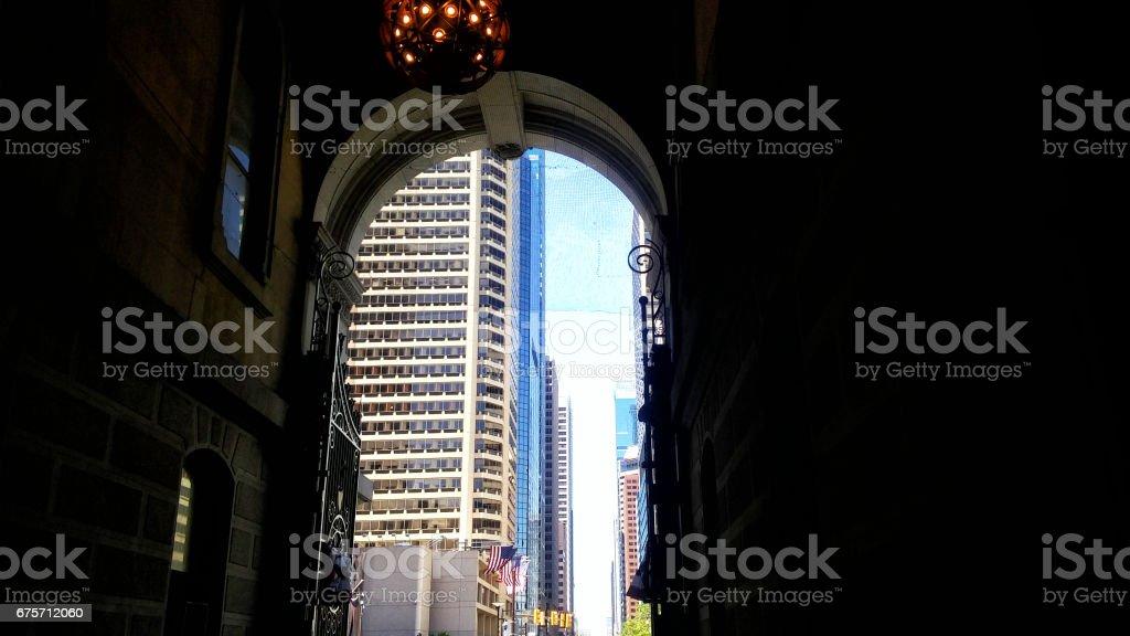 Bright outside dark inside 免版稅 stock photo