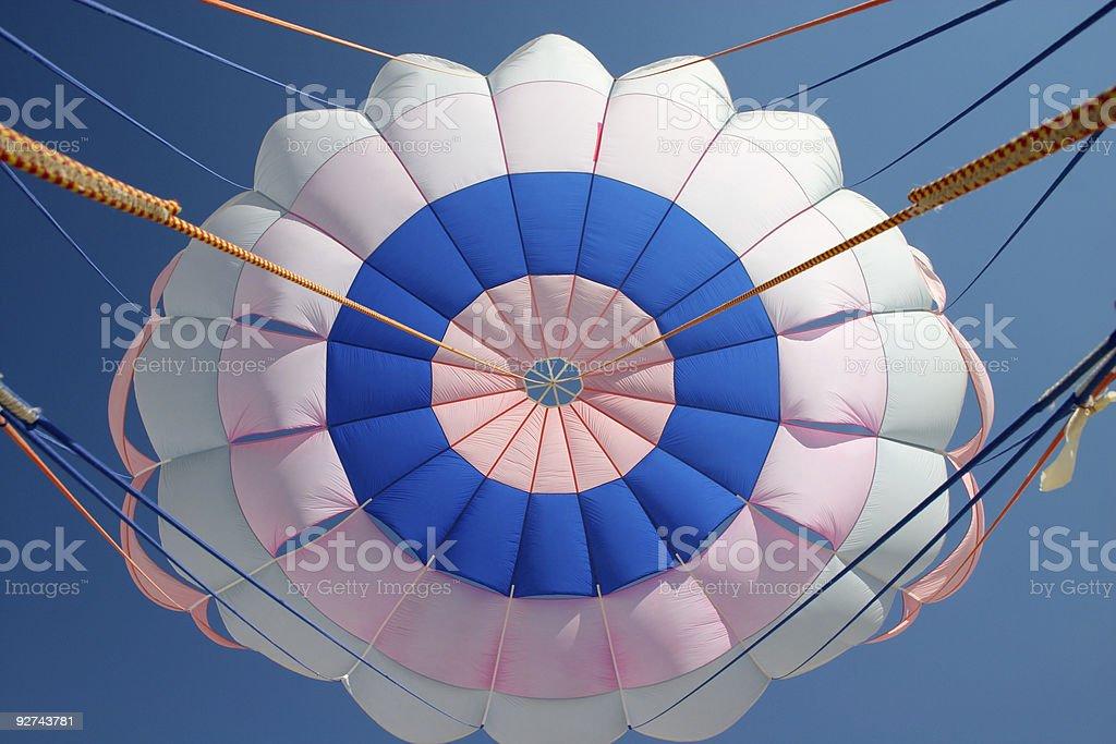 bright parachute canopy royalty-free stock photo