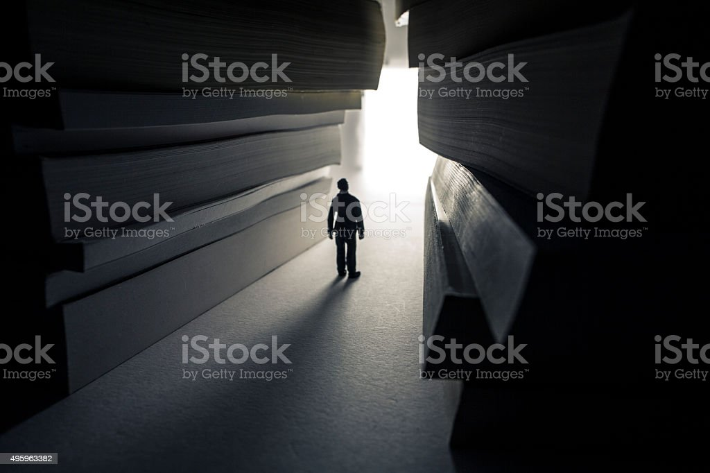 bright path of knowledge stock photo