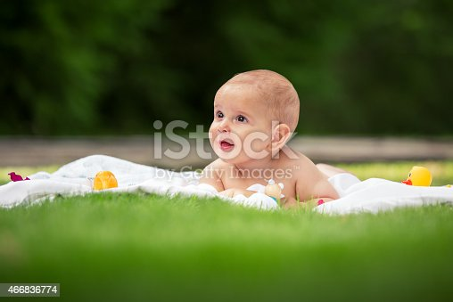 177414958istockphoto Bright portrait of adorable baby 466836774