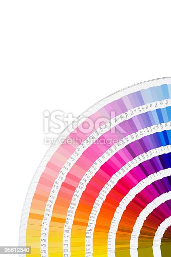 istock A bright rainbow fan of several color swatches  95812340