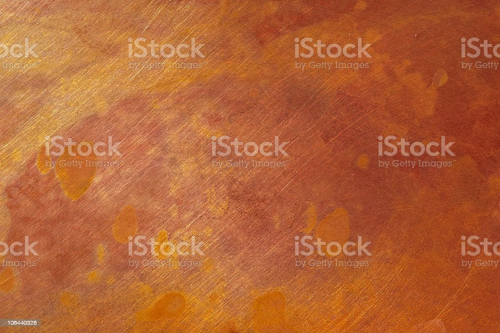 Bright red and orange metal stock photo
