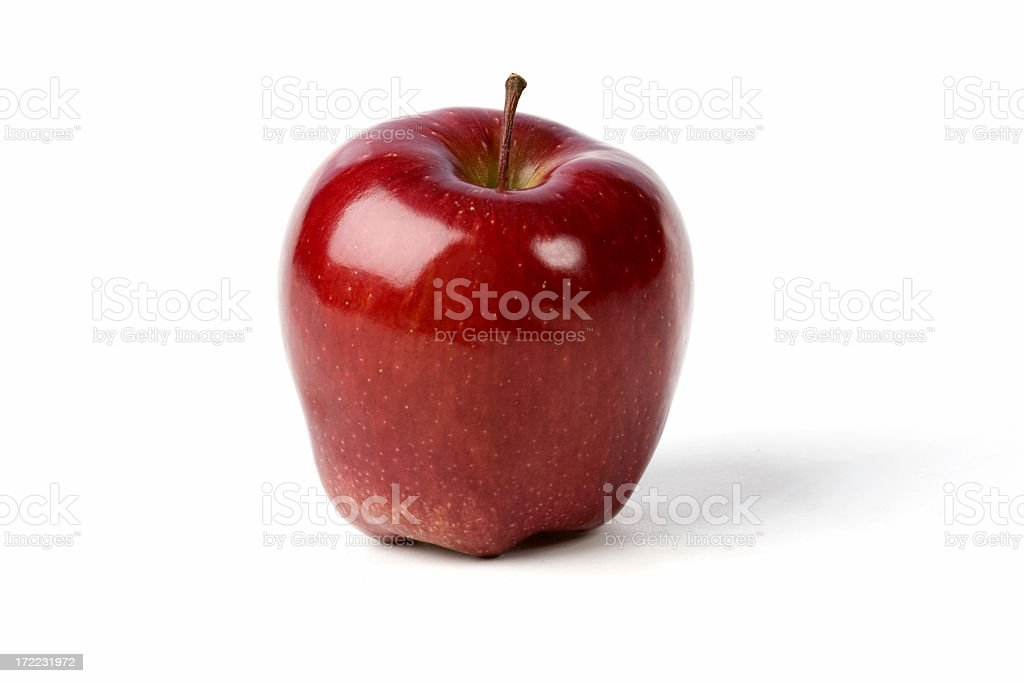 bright red apple isolated on white royalty-free stock photo
