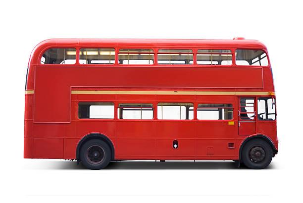 autobús rojo brillante y bordes de corte - autobús fotografías e imágenes de stock