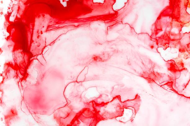 leuchtend rote flüssiges wasser farbe hintergrundvorlage. handgezeichneten grafik malerei auf weißem, lebendige und festlich. - kunst 1. klasse stock-fotos und bilder