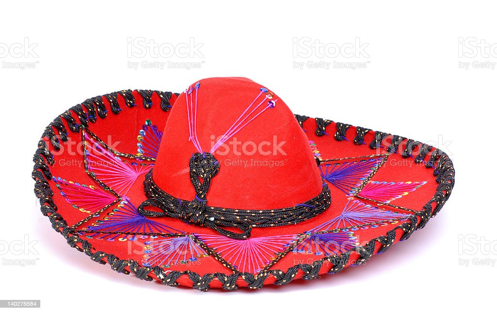 Bright Red Mexican hat royalty-free stock photo