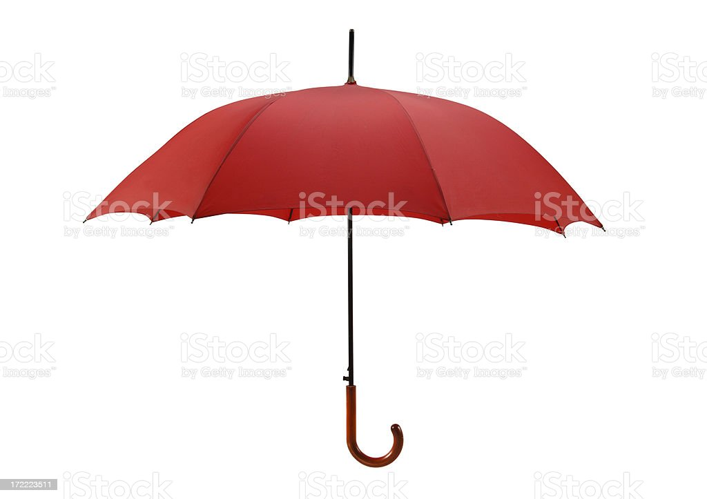 Bright Red Umbrella with Path royalty-free stock photo