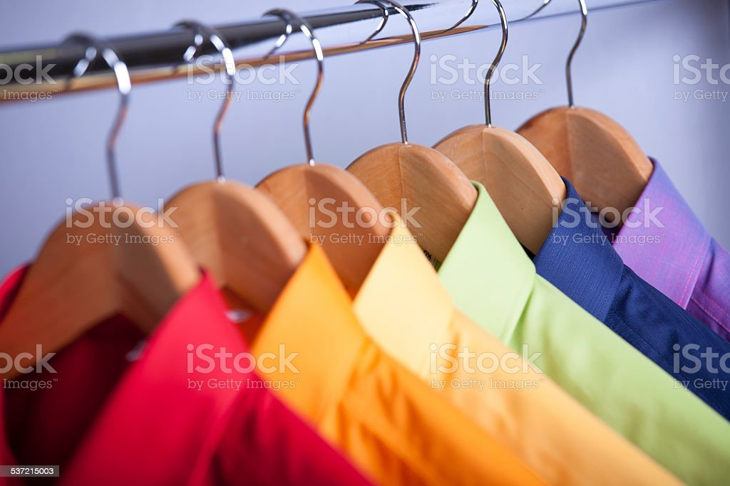 Bright Shirts Rainbow stock photo