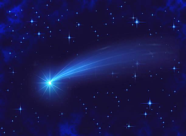 helle shooting star bei nacht - gute nacht text stock-fotos und bilder