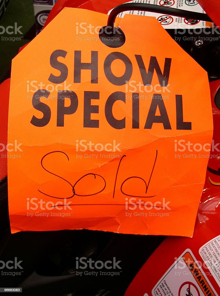 Bright 'show special' sales sign royalty-free stock photo