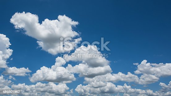 istock Bright sky and white cloud 489301962