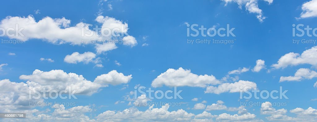 Bright sky and white cloud stock photo
