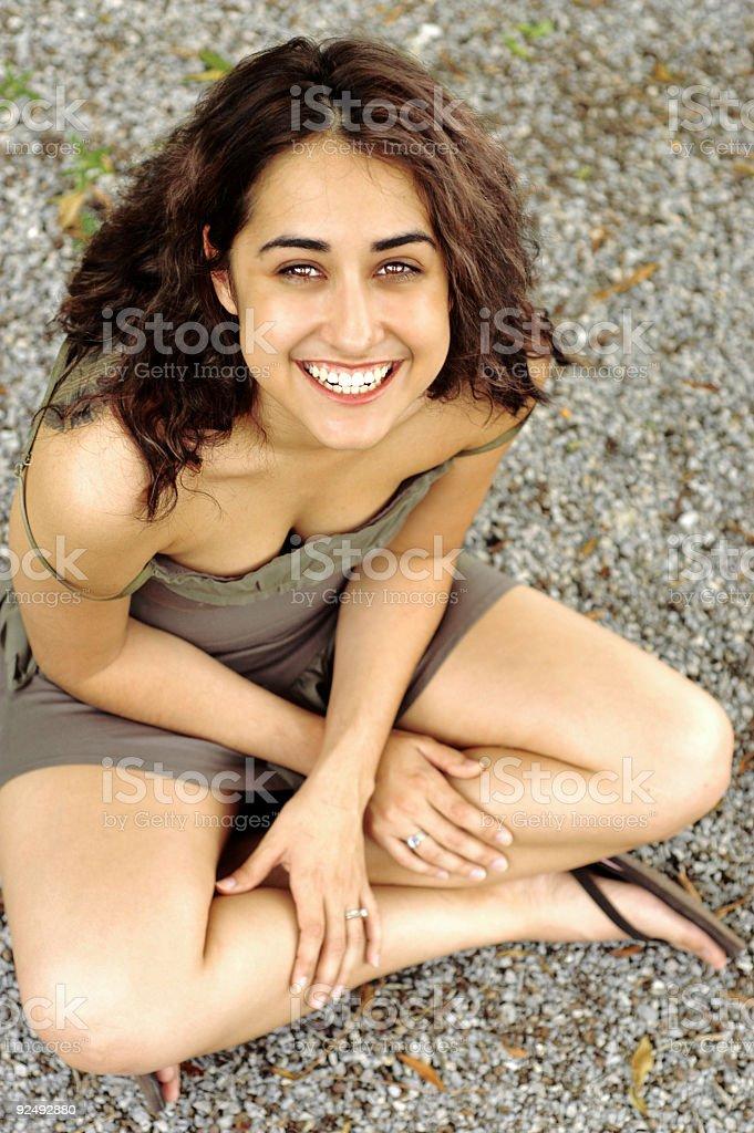 Bright smile royalty-free stock photo