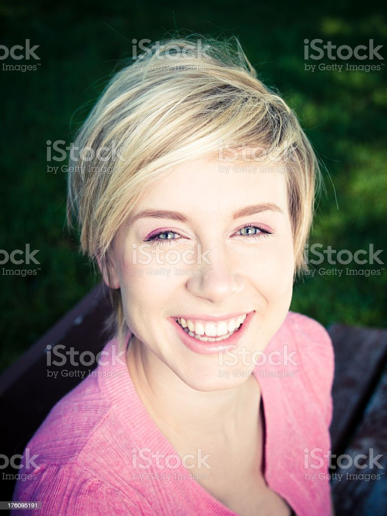 Bright Smiling Girl Portrait royalty-free stock photo