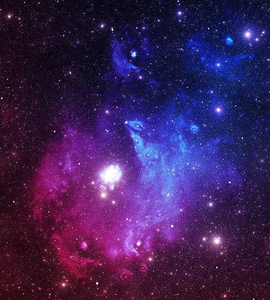 Bright space stars stock photo