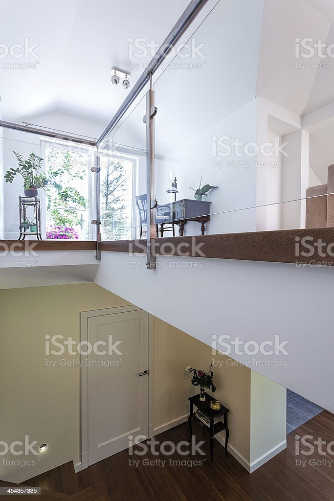 Bright space - two-floored mansion royalty-free stock photo