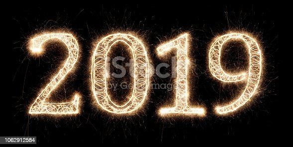 istock bright sparkler pyrotechnic fireworks number 2019 happy new year 1062912584