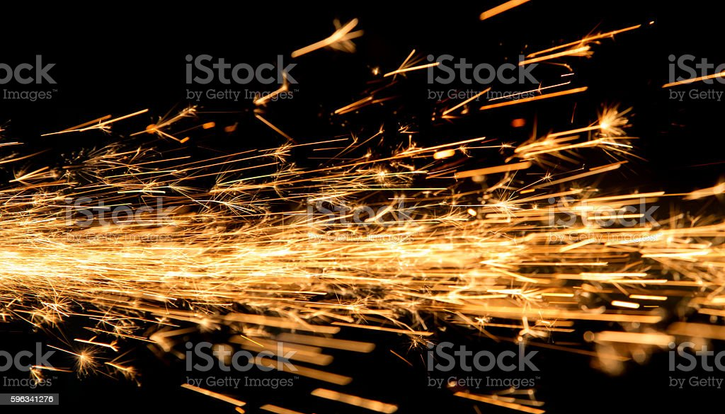 bright sparks of metal royalty-free stock photo