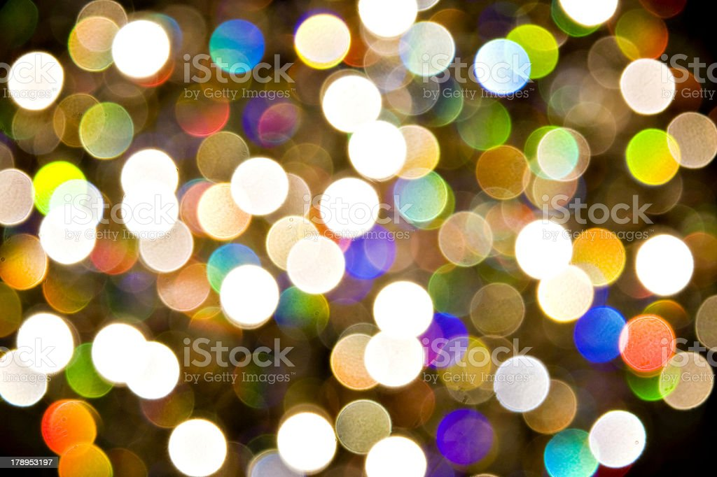 Bright spheres of coloured light royalty-free stock photo