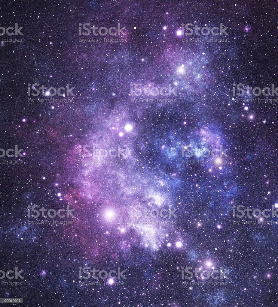 Bright starfield stock photo