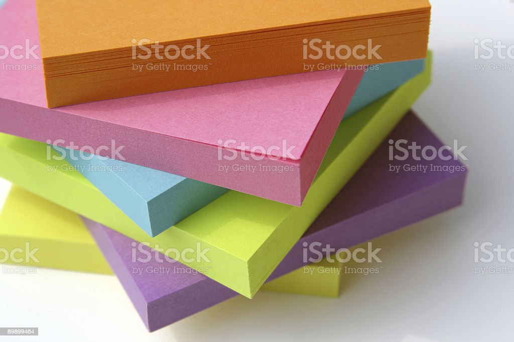 Bright Sticky Post-it Note Stack royalty-free stock photo