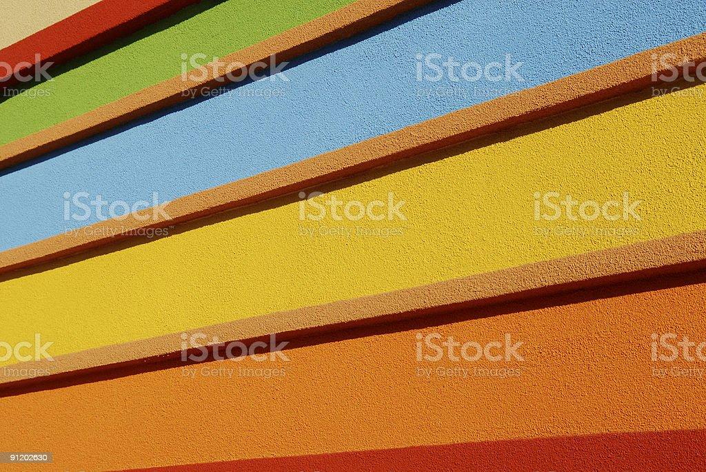 Bright Stripes (rainbow) royalty-free stock photo