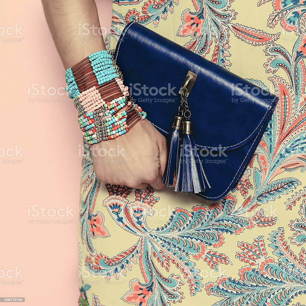 Bright Summer Oriental  Pattern Fashion jewelery and accessories stock photo