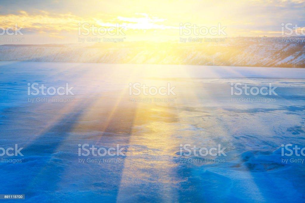 bright sun of winter stock photo