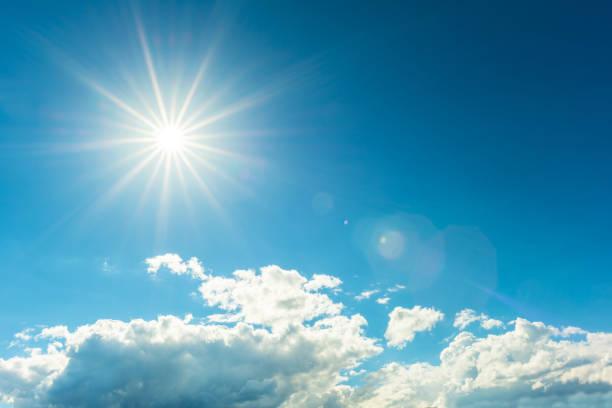 helle sonne - wettervorhersage deutschland stock-fotos und bilder