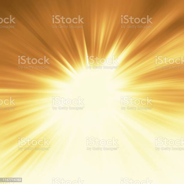 Photo of Bright sunbeams shiny summer background with vibrant yellow colors