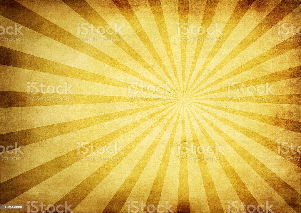 Bright sunburst background in yellow and tan royalty-free stock photo