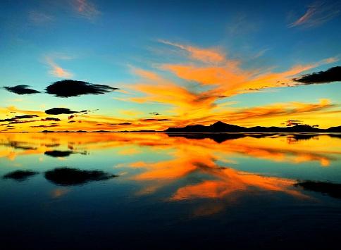 Golden orange sunset