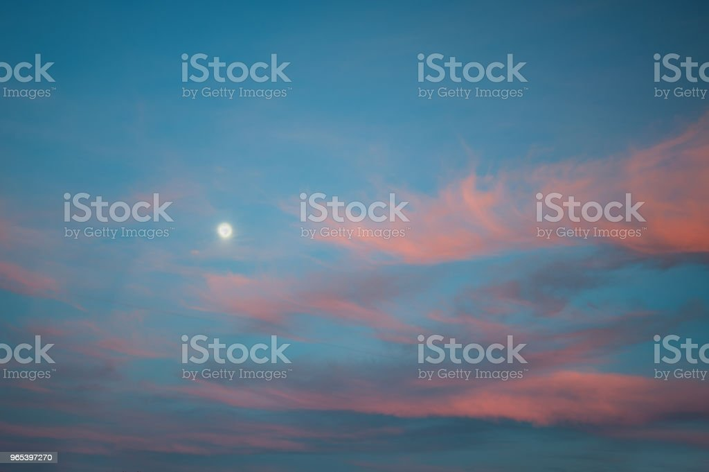 Bright sunset sky with clouds royalty-free stock photo