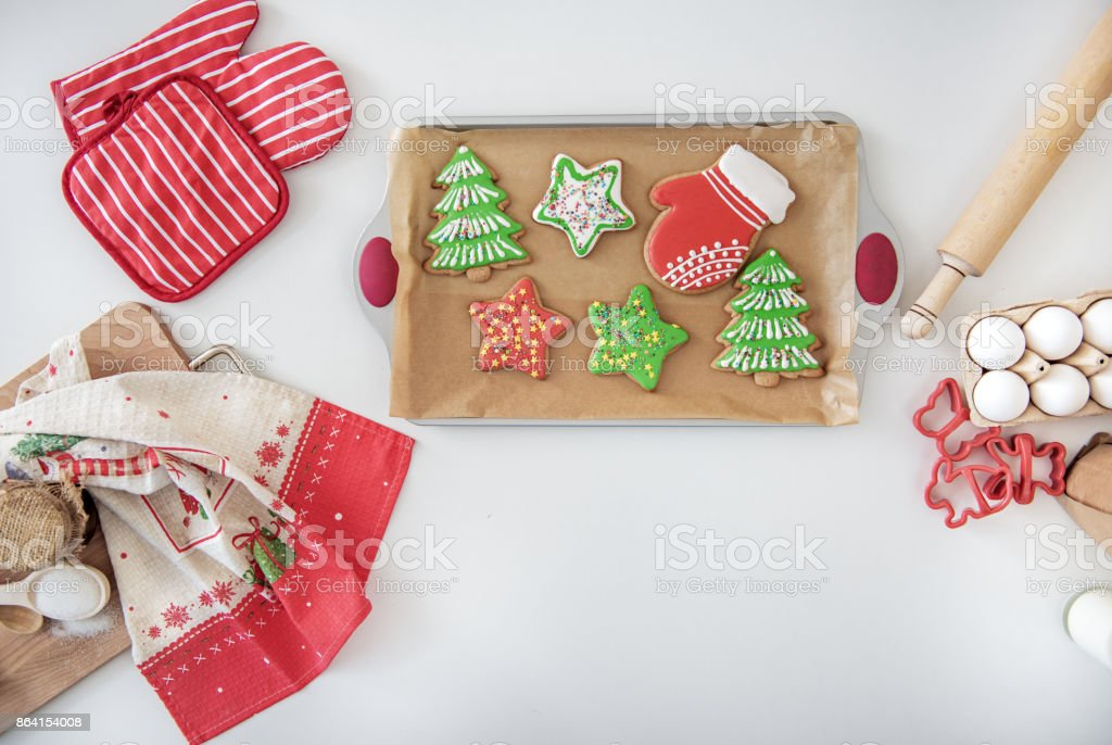 Bright sweet holiday pastry on desk in kitchen royalty-free stock photo