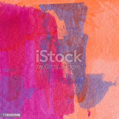 istock Bright textured with brush strokes 1130532598