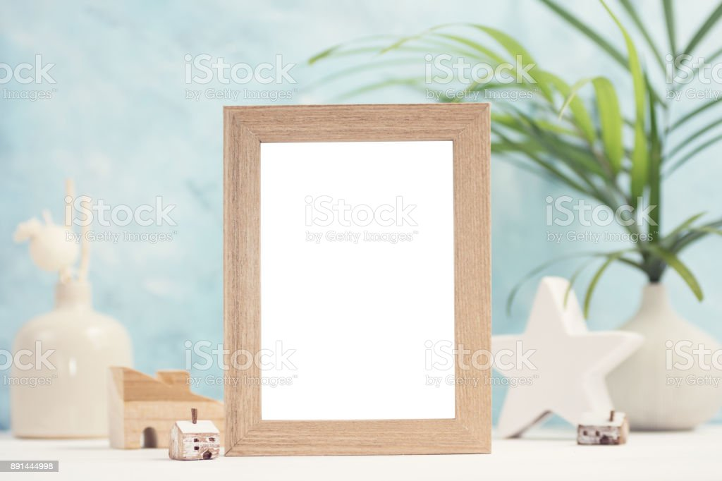 Bright Tropical Mock Up With Beige Photo Frame Palm Leaves In Vase And Home Decor On Blue Background Stock Photo Download Image Now Istock Ferns, rubber fig trees and areca palms make the perfect it's hard to choose just one type of tropical leaf, that's why we created a visual guide to help you determine your favorite types. https www istockphoto com photo bright tropical mock up with beige photo frame palm leaves in vase and home decor on gm891444998 246867221