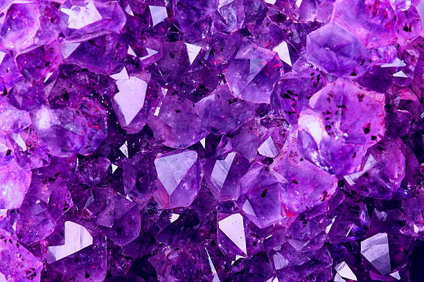 Bright Violet Texture from Natural Amethyst stock photo