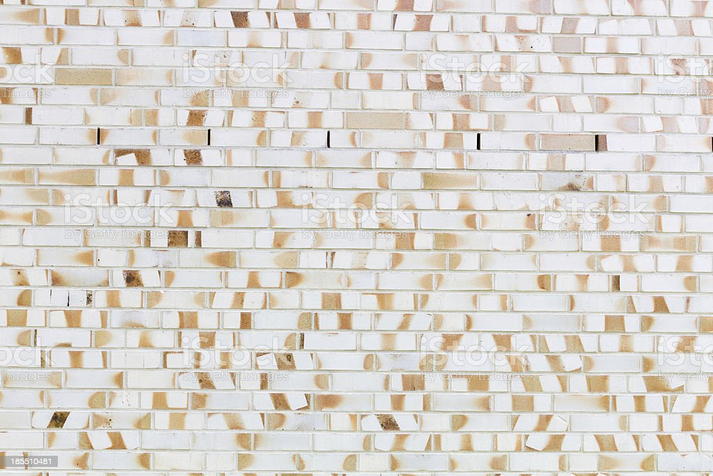 Bright wall of bricks in yellow and orange royalty-free stock photo