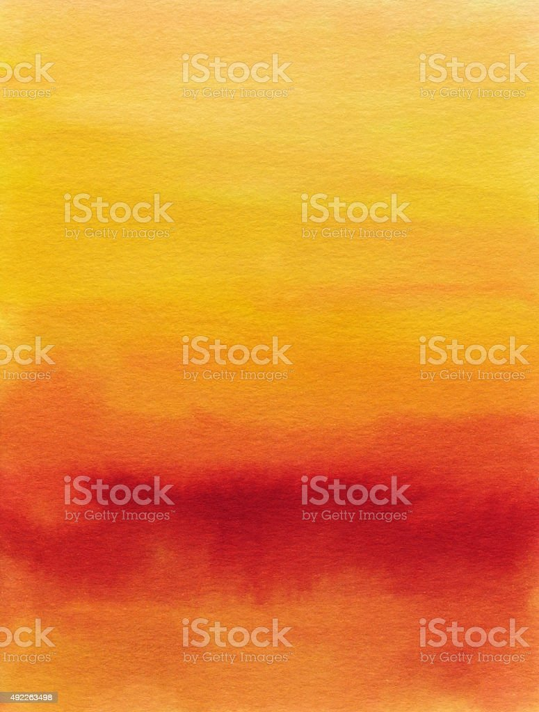 Bright warm color hand painted gradient background stock photo