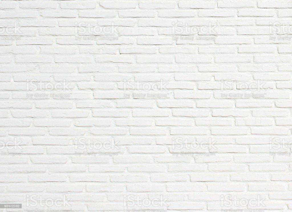 Bright White Brick Wall Texture Background Pattern Stock