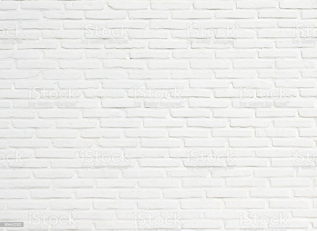 Bright White Brick Wall Texture Background Pattern stock photo