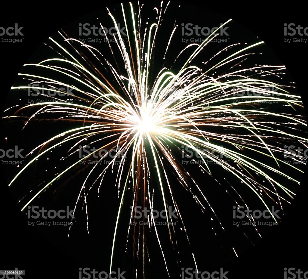 Bright white firework explosion royalty-free stock photo